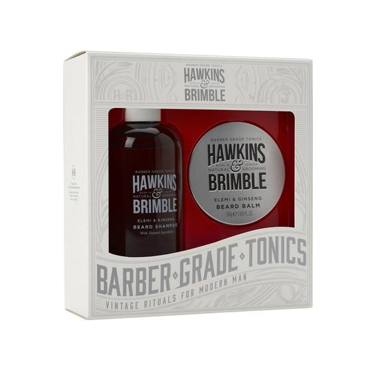 Hawkins & Brimble Beard Gift Set -  - Hawkins & Brimble Barbershop Male Grooming Products for Beards and Hair