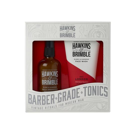 Hawkins & Brimble Facial Gift Set -  - Hawkins & Brimble Barbershop Male Grooming Products for Beards and Hair