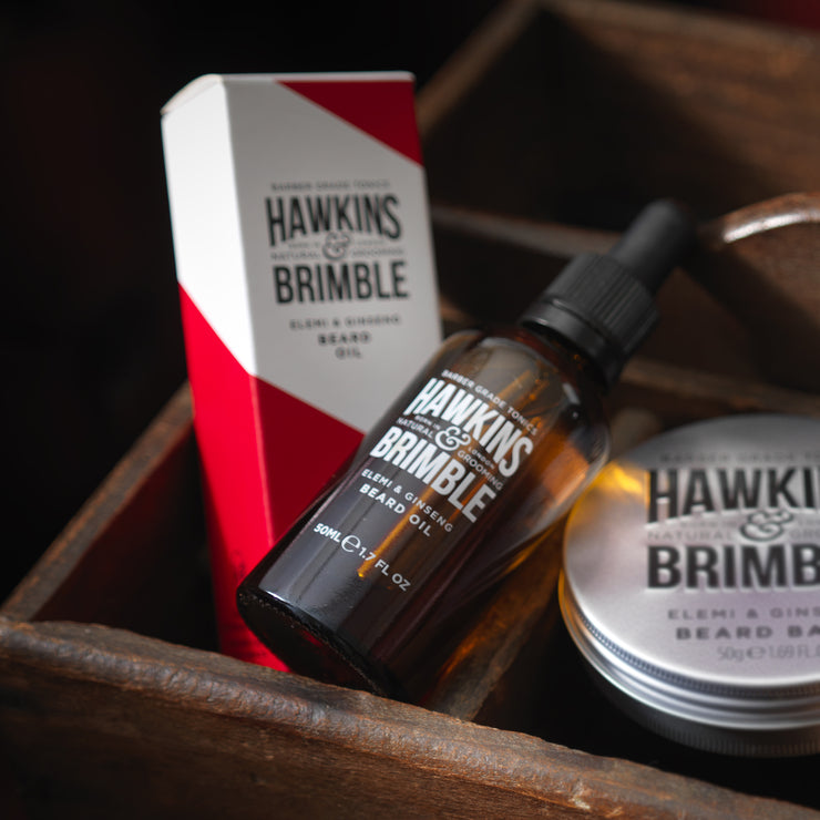 Beard Oil 50ml - Beard Care - Hawkins & Brimble Barbershop Male Grooming Products for Beards and Hair