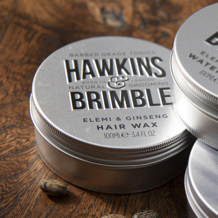 Molding Hair Wax (Light to Medium Hold) 100ml -  - Hawkins & Brimble Barbershop Male Grooming Products for Beards and Hair