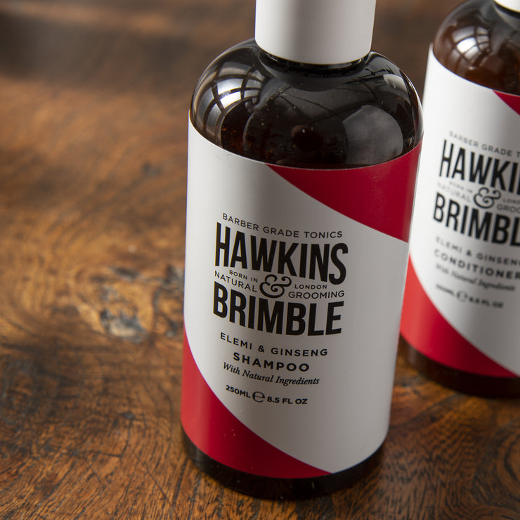 Shampoo 250ml - Hair Care - Hawkins & Brimble Barbershop Male Grooming Products for Beards and Hair
