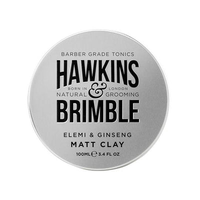 Matt Clay 100ml (Light-Medium Hold with Restylability) -  - Hawkins & Brimble Barbershop Male Grooming Products for Beards and Hair
