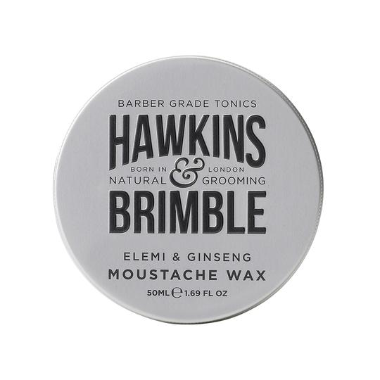 Moustache Wax 50ml - Beard Care - Hawkins & Brimble Barbershop Male Grooming Products for Beards and Hair