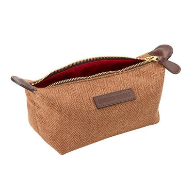 Hawkins & Brimble Wash Bag (Tan Wool) -  - Hawkins & Brimble Barbershop Male Grooming Products for Beards and Hair