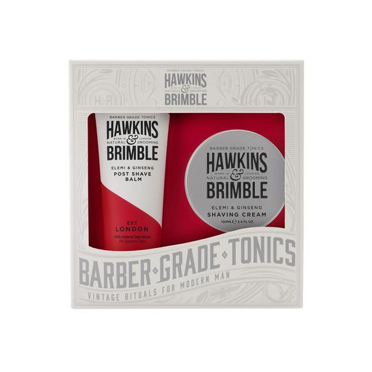 Hawkins & Brimble Grooming Gift Set -  - Hawkins & Brimble Barbershop Male Grooming Products for Beards and Hair