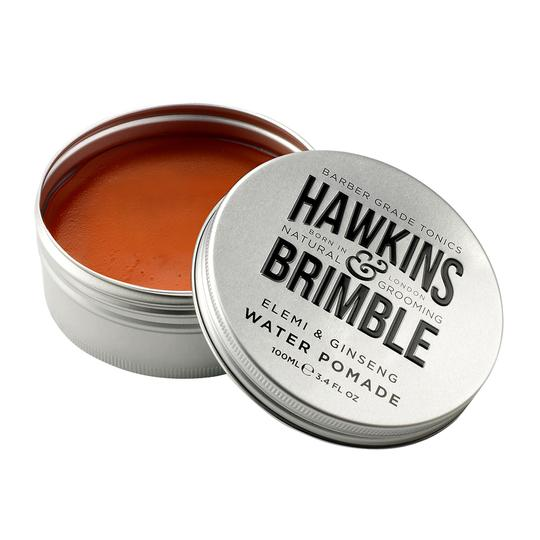 Hair Pomade, Water Based (Firm Hold) 100ml -  - Hawkins & Brimble Barbershop Male Grooming Products for Beards and Hair