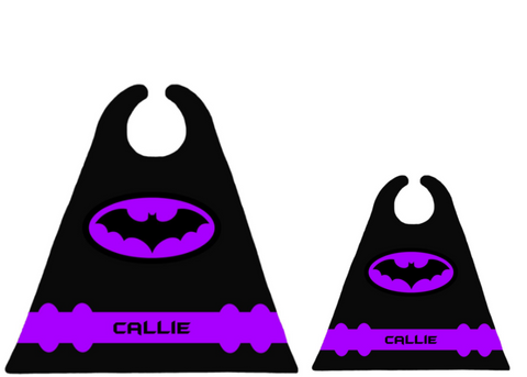 Bat - Purple Matching Set
