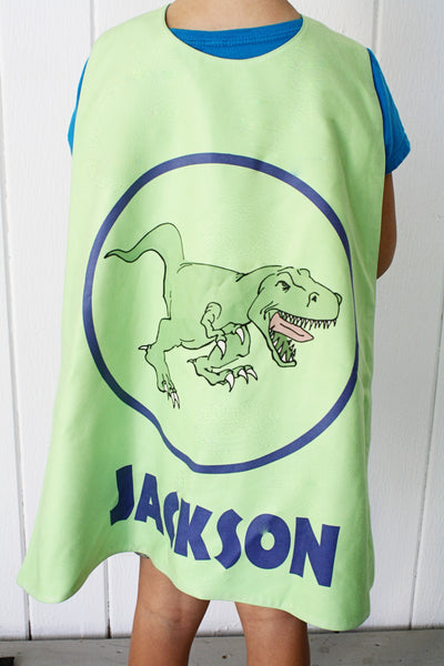 Dinosaur in Blue Circle on Green