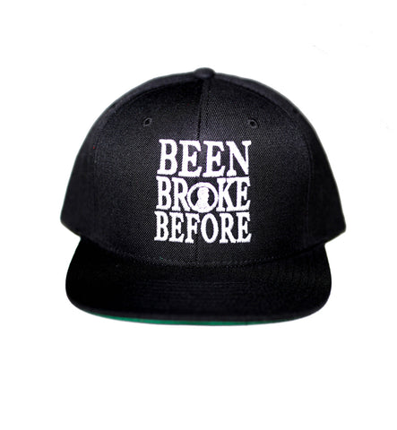 Been Broke Before Snapback Hat (Black)