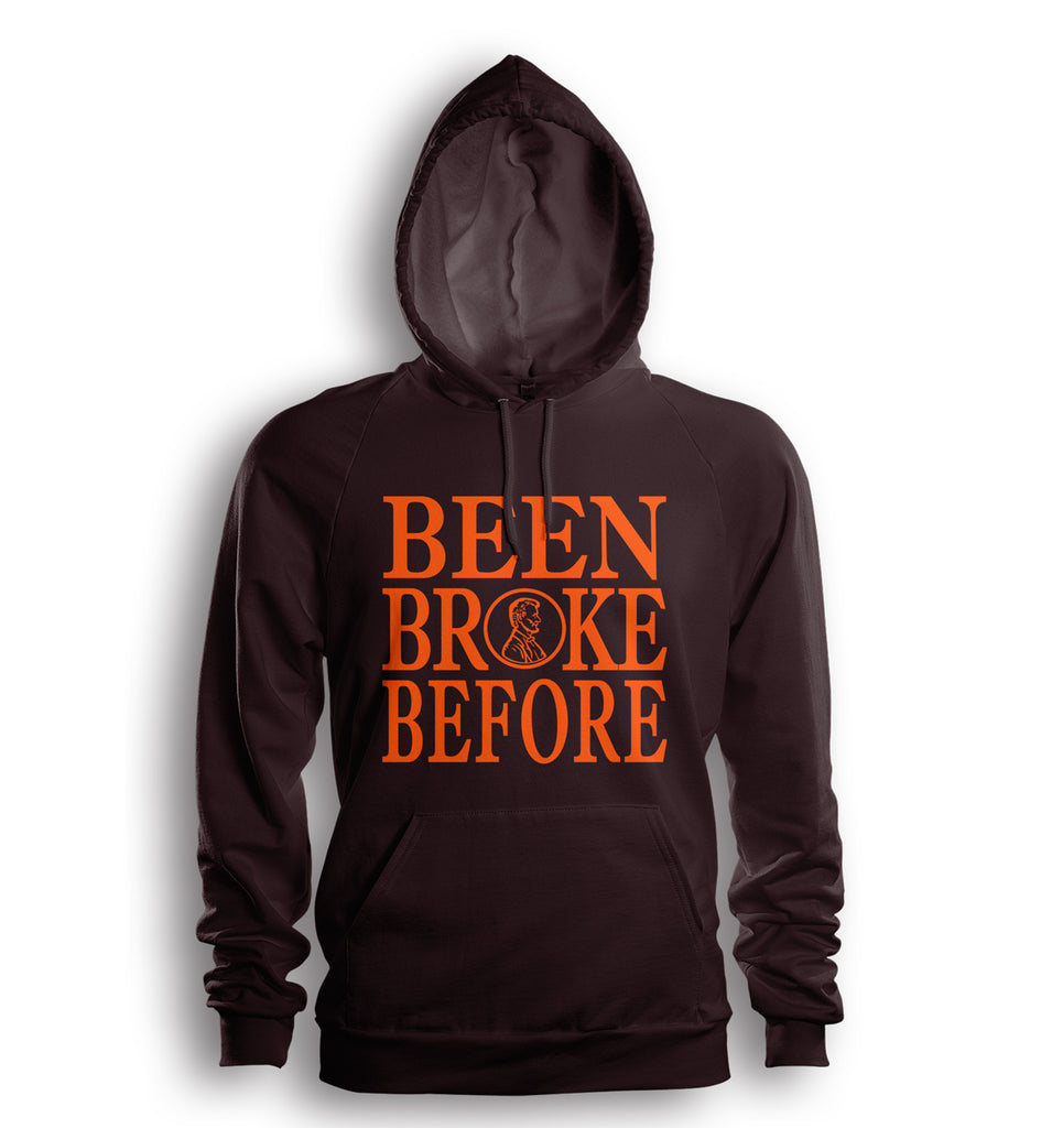 Been Broke Before Hoodie (Brown/Orange Ink)
