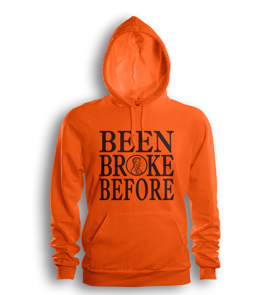 Been Broke Before Hoodie (Orange/Brown Ink)