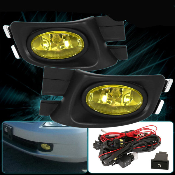 Fog Light OEM Style for 2003-2005 Honda Accord 4DR Sedan Yellow Lens