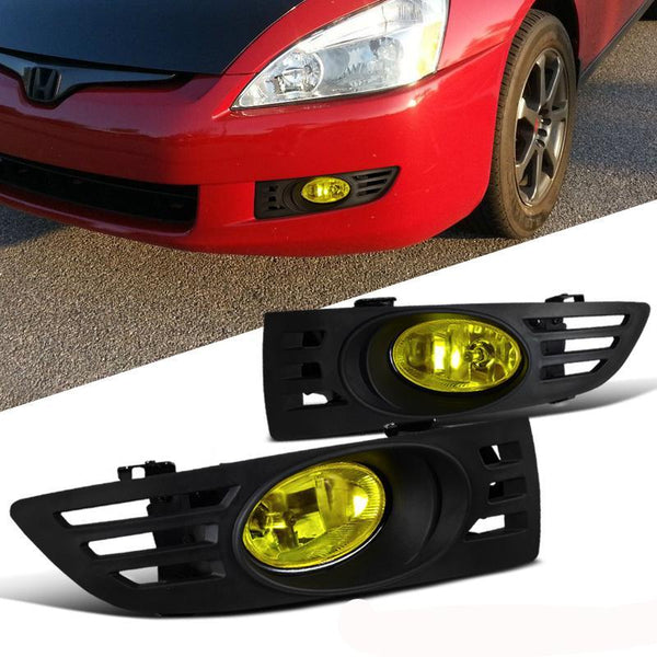 Fog Light OEM Style for 2003-2005 Honda Accord 2DR Coupe Yellow Lens