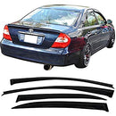 Window Visor Deflector Rain Guard 2002-2006 Toyota Camry Dark Smoke