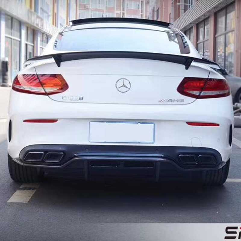2015-2020 Mercedes-Benz C-Class Coupe W205 2door Trunk Spoiler Real Carbon Fiber