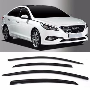 Window Visor Deflector Rain Guard 2011-2014 Hyundai Sonata Dark Smoke