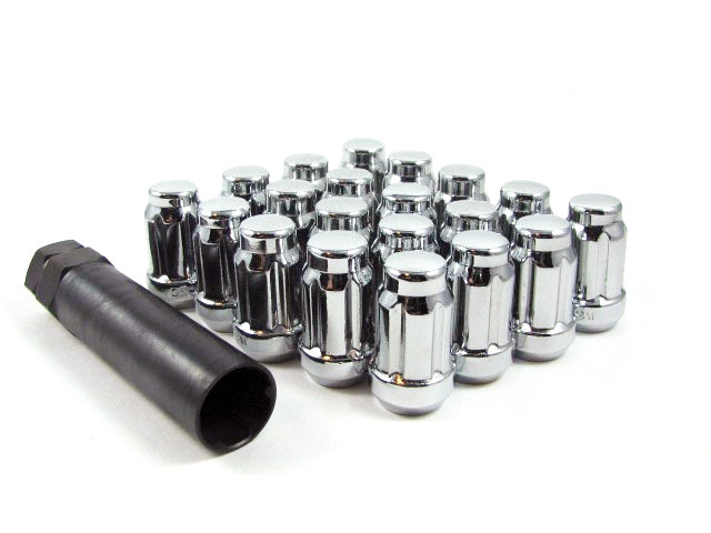 Wheel Nut Closed End Spline Drive Lug Nut Set with Key 12x1.5mm 12x1.5mm 14x1.5mm