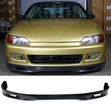 1992-1995 Honda Civic 2/3 door Spoon style Front Bumper Lip (PU)