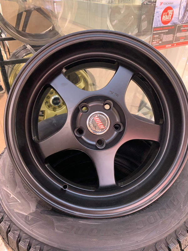 "bR 17"" Alloy Wheel Replica 17x8.5 5x114.3 Matt Black"