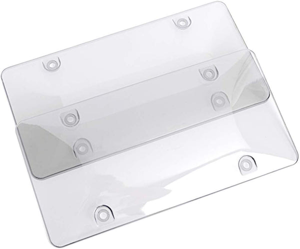 License Plate Cover / License Plate Shields - 2-Pack Smoke ( Convex Style)