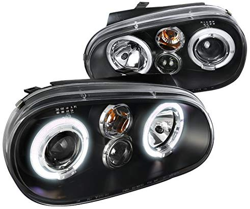 DUAL HALO LED PROJECTOR HEADLIGHTS 1999-2004 Volkswagen Golf