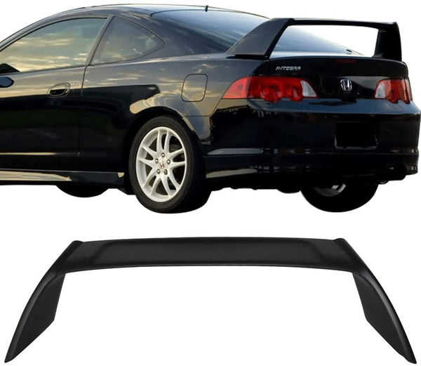2002-2006 Acura RSX Spoiler Type R style Wing Unpainted Black