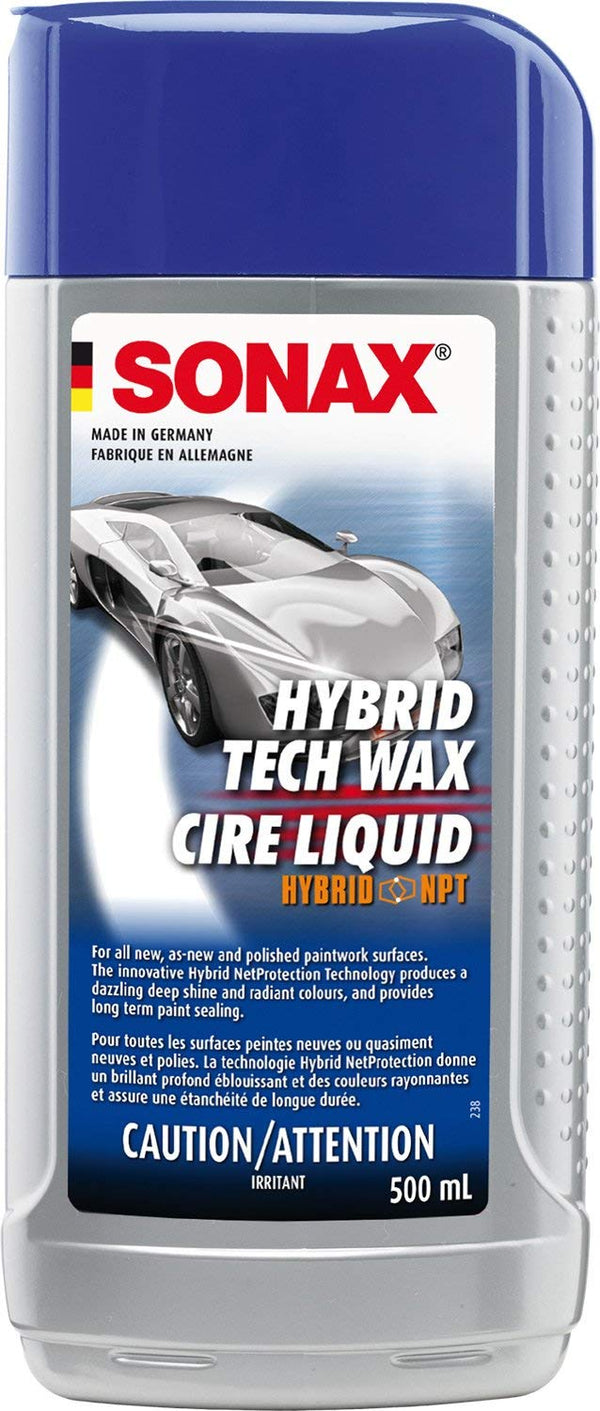 Sonax 201200-740 Hybrid NPT Liquid Wax, 500ml (Non-Carb Compliant)
