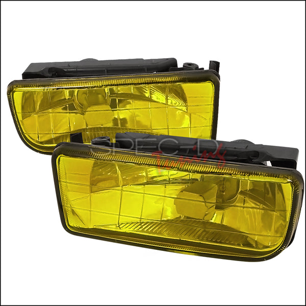 FOG LIGHTS COVERS FOR 1992-1998 BMW E36 3 SERIES Yellow