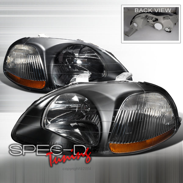 JDM EURO HEADLIGHTS FOR 1996-1998 HONDA CIVIC