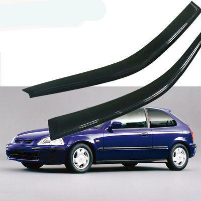 Window Visor Deflector Rain Guard 1996-2000 Honda Civic EK Coupe 2door Dark Smoke 2pc Visors