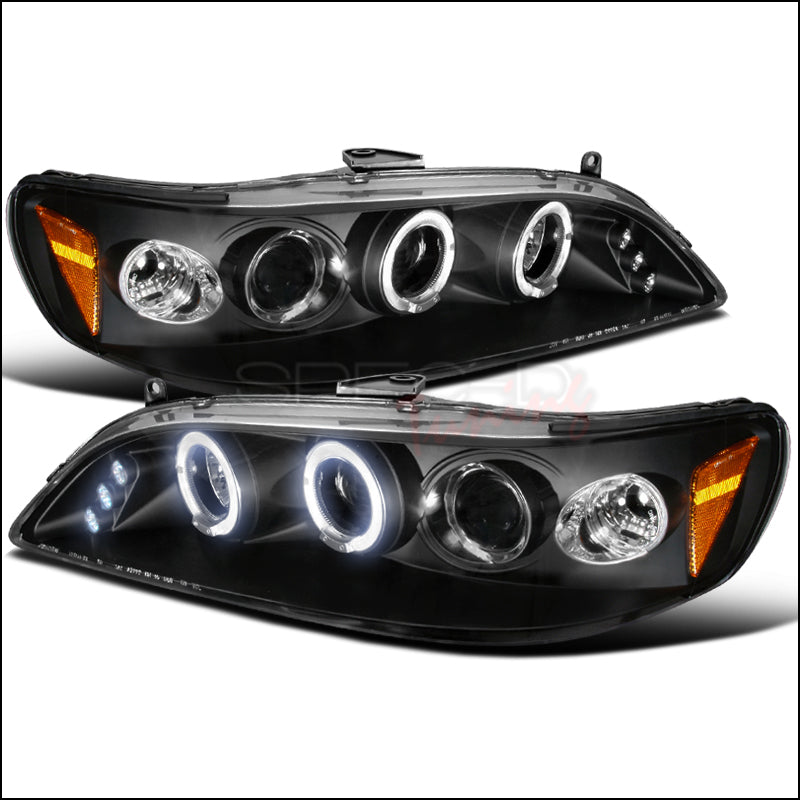 DUAL HALO LED PROJECTOR HEADLIGHTS FOR 1998-2002 HONDA ACCORD 2 and 4 door