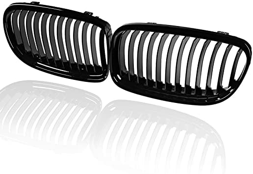 2009-2011 BMW 3 Series Sedan E90 Kidney Grill Grille Glossy Black/ Pair