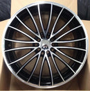"bR 18"" Alloy Wheel Replica 18x8 5x114.3 Matt Black / MF"
