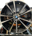 "bR 19"" Alloy Wheel Replica 19x8.5 5x120 BMW replica wheel Matt Black / Ch"