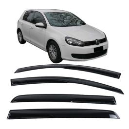 Window Visor Deflector Rain Guard  2008-2014 Volkswagen Golf MK6 GTI Mugen Style