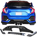 2017-2021 Honda Civic Hatchback 5 Door Rear Diffuser CTR Style Rear Bumper Lip TR Black PP 10th Gen Air Dam Protection Boykits