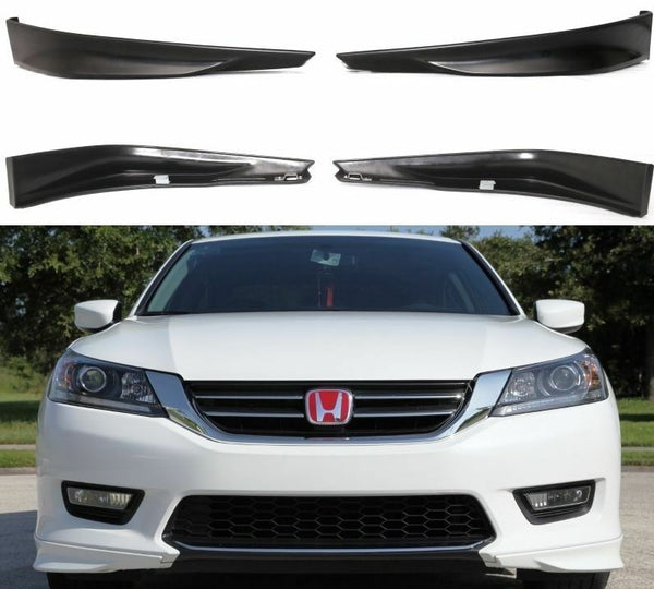 Front Bumper Lip HFP Style 2PC fits 2013-2015 Honda Accord Sedan 4door