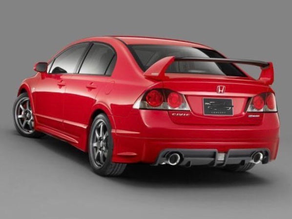 2006-2011 Honda Civic Sedan 4 door Mugen RR Style Spoiler Unpainted Wing