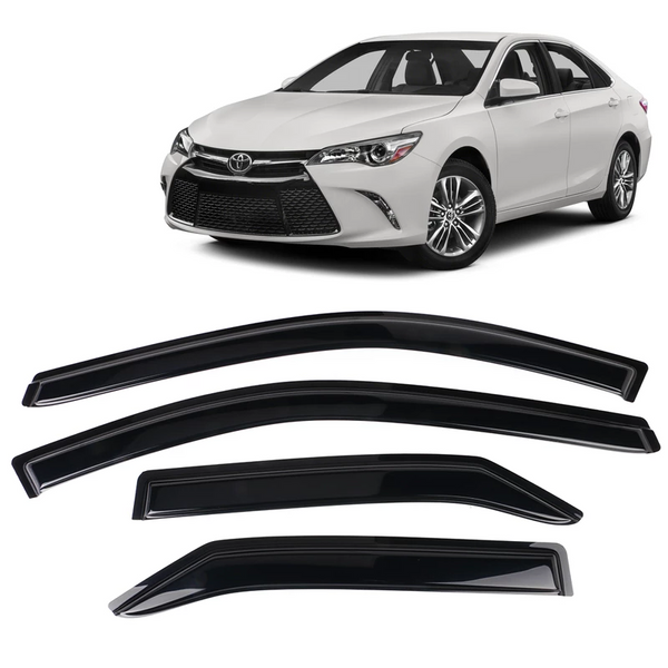 Window Visor Deflector Rain Guard 2012-2017 Toyota Camry Dark Smoke