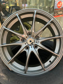 "bR 17"" Alloy Wheel JDM Style 17x7 5x114.3 +40 Dark Gunmental"