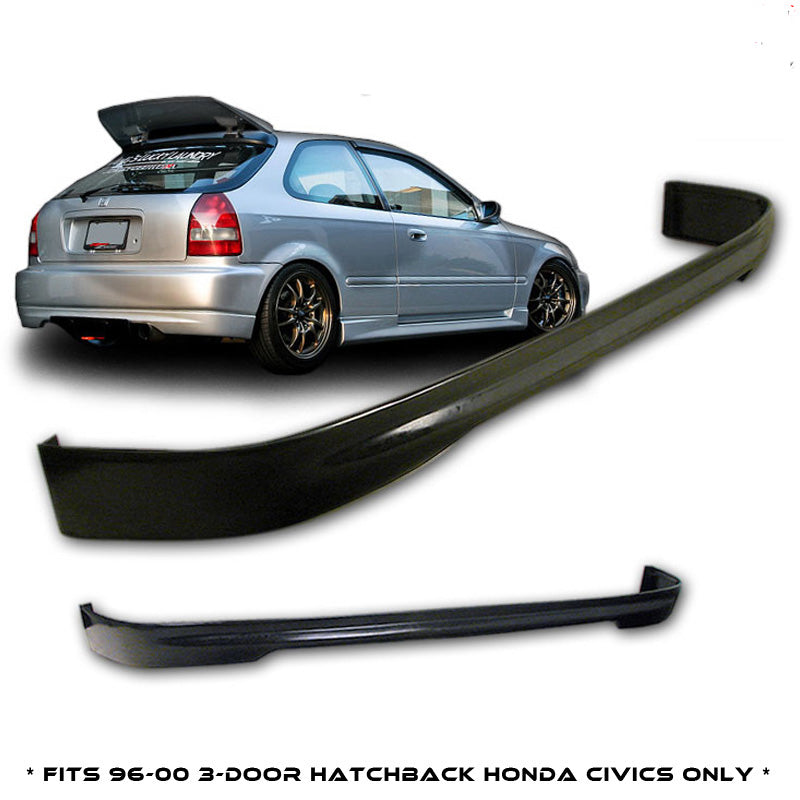 1996-2000 Honda Civic 3 door EK9 rear bumper lip CTR Type R Style