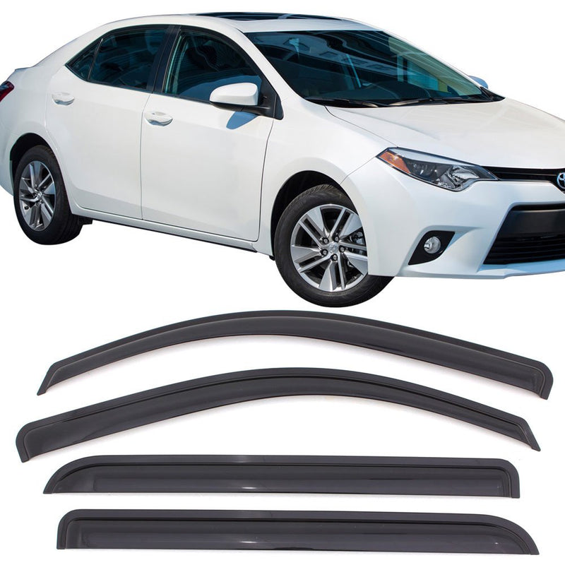 Window Visor Deflector Rain Guard 2014-2019 Toyota Corolla