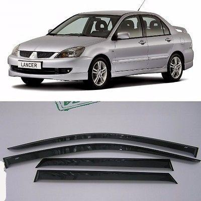 Window Visor Deflector Rain Guard 2001-2007 Mitsubishi Lancer Dark Smoke