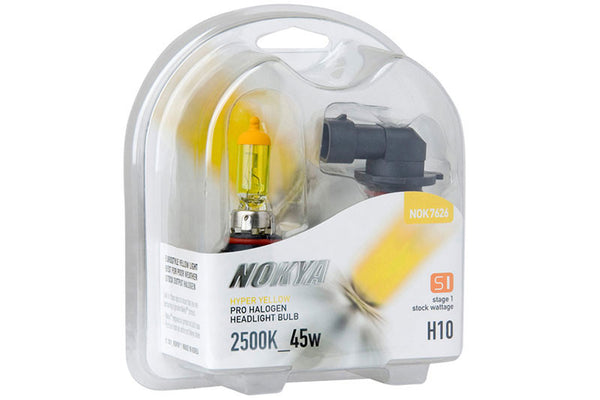 Nokya Hyper Yellow H10 Light Bulbs 2500K 45W (Stage 1)