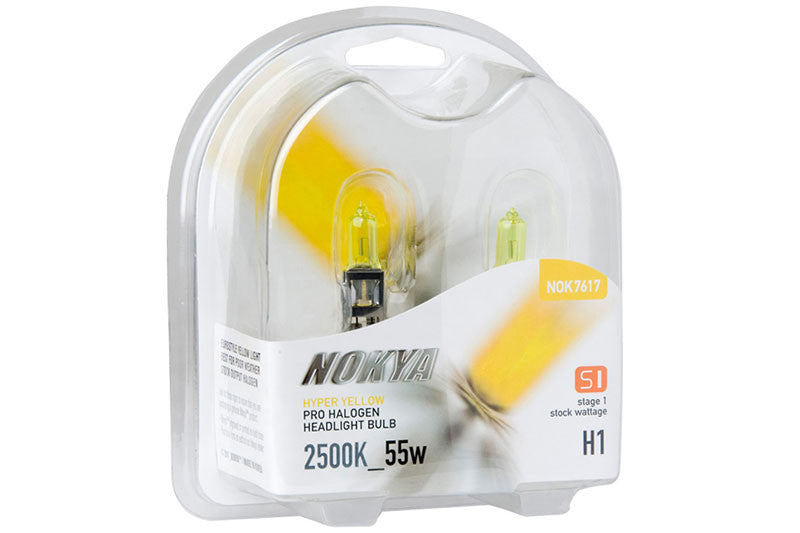 Nokya Hyper Yellow H1 Light Bulbs 2500K 55W (Stage 1)