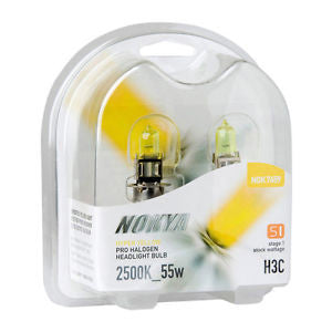 Nokya Hyper Yellow H3C Light Bulbs 2500K 55W (Stage 1)