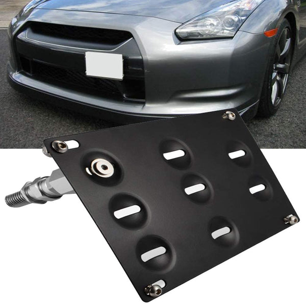 bR License Plate Mounting Kit License Plate re-locator for Nissan 09-18 Nissan 370Z Z34 GTR R35 03-18 Sentra 11-17 Juke 04-17 Infiniti G37 2dr Coupe / Q60 / Q50
