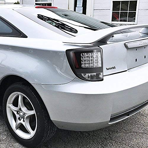 Black Housing LED Taillights Kit ( Left & Right ) Tail Lights Housing Kit 2000-2005 Toyota Celica
