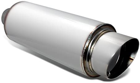 Muffler w/ Silencer Stainless Steel 4 Inch Flat w/o Burnt Tip