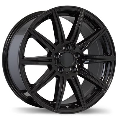 "bR Replica R157 19"" Alloy Wheel Black 19x8.5 5x112+32mm"